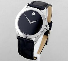 Movado Men's Masino Black Museum Dial Sapphire Crystal Watch