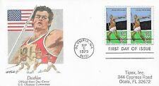 U.S. 1979 OLYMPIC DECATHLON 10c Scott #1790 Pair on a Fleetwood FDC Cachet