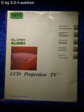 Sony manuel d'utilisation KL 37w1/50w1 lcd projector tv (#1272)