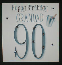 PERSONALISED HANDMADE GRANDAD 90TH BIRTHDAY CARD