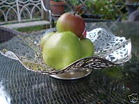 VINTAGE FRENCH SILVER PLATED FRUIT  DISH [1950's CIRCA]
