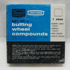 Vintage Sears Craftsman No. 9-2896 Set of 4 Buffing Compounds