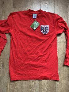 *BNWT* ENGLAND 1966 AWAY FOOTBALL SHIRT JERSEY SCORE DRAW #6 MOORE SIZE MEDIUM