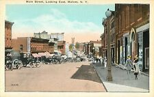 A View Of Main Street, Looking East, 20's Autos, Malone NY