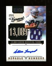 2010 Playoff National Treasures Steve Largent Autograph Jersey /25 Seahawks
