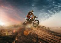 Amazing Motorcross Biker Poster Size A4 / A3 Dirt Bike Sports Poster Gift #8761