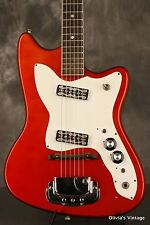 original 1960's Harmony H16R BOBKAT Candy Apple Red w/MUSTACHE pickups!!!