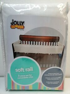 Jolly Jumper 3 Piece Soft Rail for Convertible Cribs (White)  Baby Protection