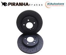 Chrysler 300C 5.7 V8 SRT8 6.1 3.5 05-11 Rear Brake Discs Coated Black Piranha
