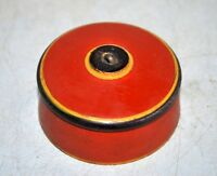 Collectible Vintage Old Wooden Hand Crafted Lacquer Painted Vermilion Tika Box