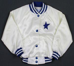 Vintage 80's Dallas Cowboys Cheerleaders Satin Jacket Girls Size 4/5