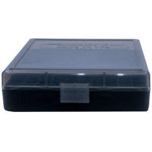 9mm / 380 Ammo Box Smoke/Black 100 Round (Quantity 5) Free Shipping (Berry's)