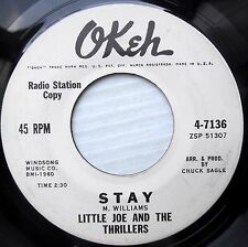 LITTLE JOE the THRILLERS doowop Okeh N-Mint promo 45 STAY ~PLEASE DON'T GO F3009