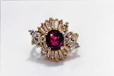 Vintage 14 K Yellow Gold 1.50 CWT and Red Ruby 1.80 CWT Ring RN10-0016
