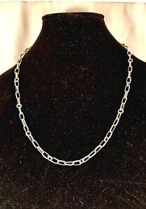 "Navajo Handmade Sterling Silver Links & Os Chain 23"""