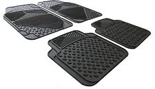 Rubber and Carpet Car Floor Foot Well Mats For SEAT LEON 2010>