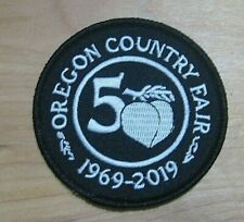 Oregon Country Fair 50th Anniversary Cloth Embroidered Patch Iron-On 1969-2019