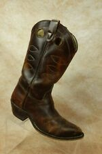 Double H HH Brown Patinated Leather Buckaroo Western Cowgirl Boots Womens 7B