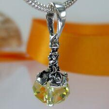 A080 Anhänger  925 Silber Schmuck mit Swarovski Elements Crystal Rondelle Beads