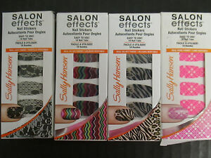 4 SALLY HANSEN SALON EFFECTS LIMITED EDITION NAIL STICKERS - NEW - EL 2334