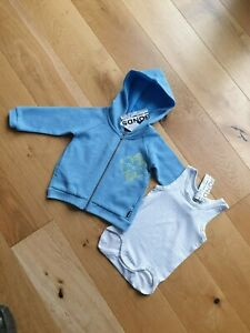 BNWT BONDS LUXE BABY HOODIE / BODYSUIT SET AGE 6 - 12 MONTHS
