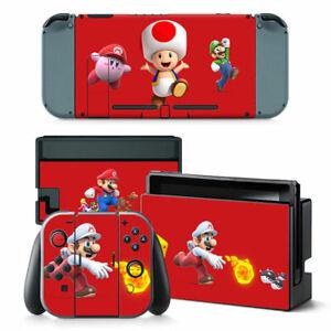 SUPER MARIO Nintendo Switch VINYL Skin STICKER Protector for Console Controller