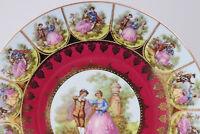 "Vintage STW Bavaria Germany Platter Fragonard Courting Love story 10.5"" Beehive"