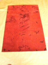 Area Rugs Handmade Woollen Rugs Hand Tuffted Carpets Red Color Modern Design