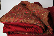 Ralph Lauren Abenhall King sized Comforter Red green brown Paisley reverse-able
