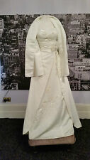 Carducci Ivory Beaded Wedding gown with Shawl. Price tag says £650