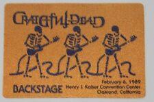 Grateful Dead Backstage Pass 2-6-89 Henry J Kaiser Oakland California