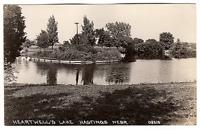 Vintage RPPC Real Picture Postcard Heartwell's Lake Hastings Nebraska I-56