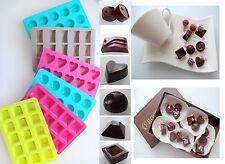 Silikon Pralinen Pralinenform Backform Eiswürfel Schokolade Konfekt Herz Trüffel