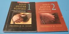 SOLO GUITAR PLAYING Books Volumes 1 & 2 FREDERICK M NOAD