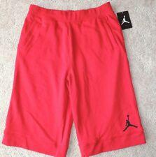 Boys Youth Size XL 14 Jumpman Gym Red Elastic Waist Athletic Basketball Shorts