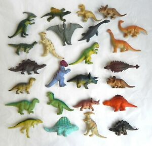 25 Small Rubber Dinosaurs Animals Toys Set