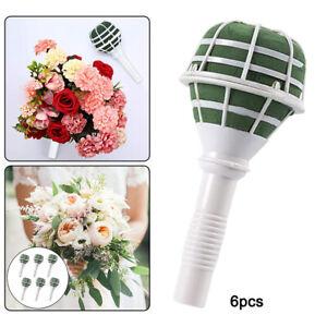 6pcs Bouquet Holder Bride Handle Bouquet Handle Wedding Bouquet Supplies