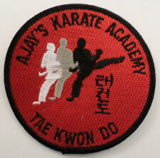 Martial Arts Embroidered Sew On Uniform Patch Ajay'S Karate Academy Tae Kwon Do