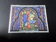 FRANCE 1966, timbre 1492, TABLEAU VITRAIL SAINTE CHAPELLE, oblitéré, PAINTING