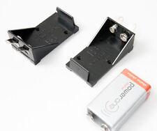 2 Stück Batterie Akku Kasten Halter Fach Pack 9Volt Zelle für Funkgeräte neu