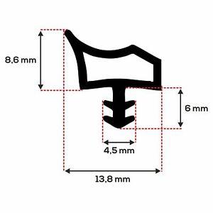 ToniTec Türdichtung M3967 grau 25m Dichtprofil Zimmertürdichtung Nut 4x7 mm