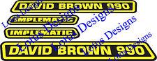 David Brown 990 implematic Trattore Adesivi/Decalcomanie