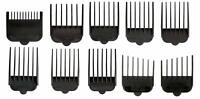 Wahl Hair Clipper Guide Comb Set 10pc Standard Guards Attach Trimmer Style Parts