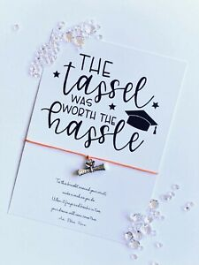 """""""The tassel was worth the hassle"""" Graduation Wish Bracelet gift card 2021"""