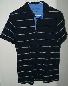 Men's Banana Republic The Slim-fit Slub Tee SZ Medium Blue Striped Cotton Shirt