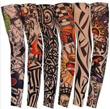 2pcs Mixed  Tattoo Sleeve Nylon Stretchy Temporary Fashion Arm Stockings