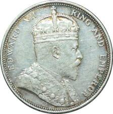 S2117 Rare Scarce MALAYSIA STRAITS SETTLEMENTS Dollar Edward VII 1904B Silver AU