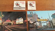 Harolds Club Reno Casino 2 postcards 2 different matches mint cond never used