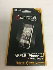 Zagg Invisible Shield Apple iPhone 4 Full Body Dry Screen Protector NEW