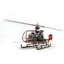 Handmade French helicopter 1:24 Antique Style Metal Model